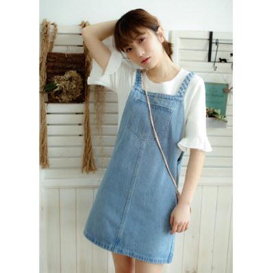 Váy yếm Jean đẹp, nữ tính