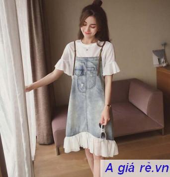 Váy yếm Jean đuôi cá