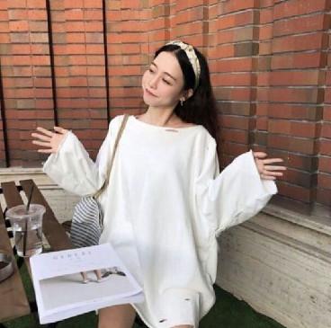 Áo thun form rộng nữ Hàn Quốc dài tay