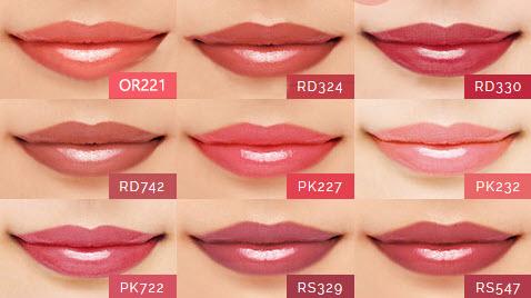 Bảng màu son Shiseido Maquillage