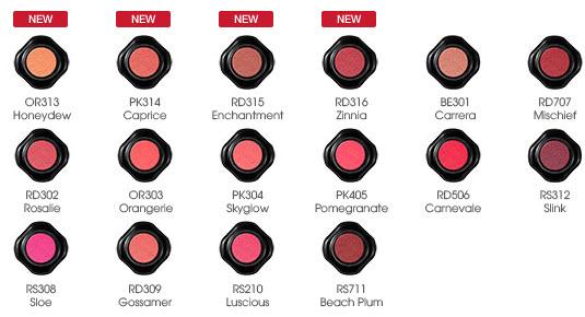 Bảng màu son Shiseido Veiled Rouge