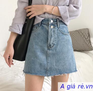Chân váy Jeans chữ A
