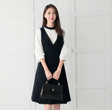 Đầm liền công sở Hàn Quốc