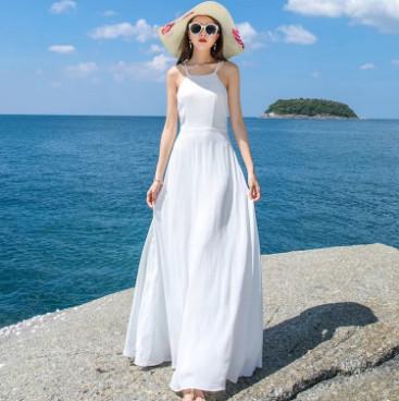 Váy maxi màu trắng