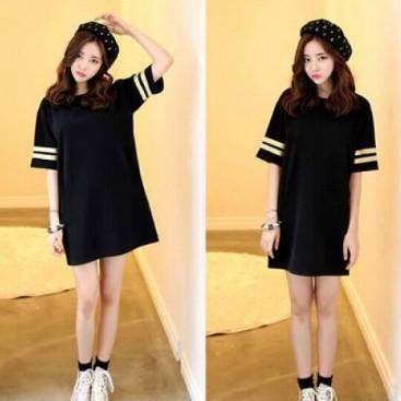 Váy suông chữ A màu đen