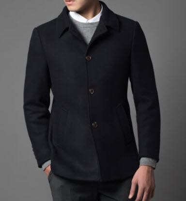 Áo măng tô nam ngắn