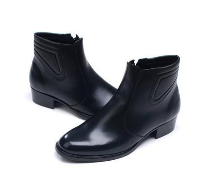 Giày tây Nam cổ cao màu đen