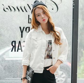 Áo khoác Jean trắng