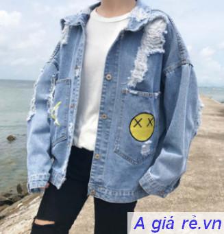 Áo khoác Jean nữ rộng