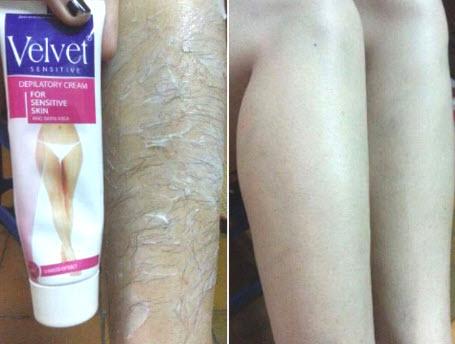 Cách sử dụng kem tẩy lông Velvet