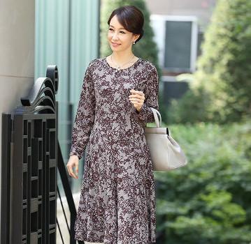 Đầm maxi trung niên