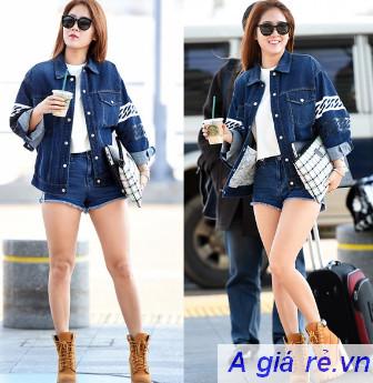 Áo khoác Jean mang phong cách Hàn Quốc