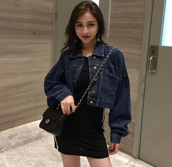 Áo khoác Jean đen