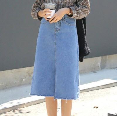 Chân váy Jean dài