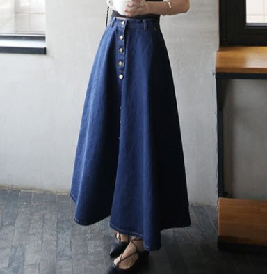 Chân váy jean xòe đẹp
