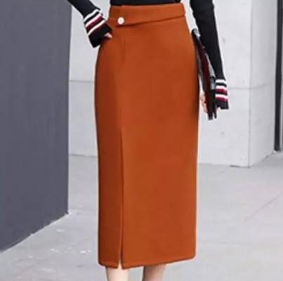 Chân váy suông công sở