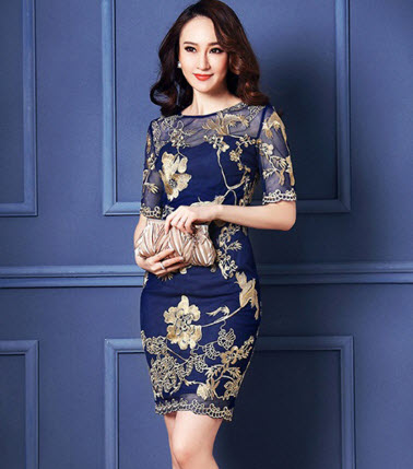 Đầm trung niên Hàn Quốc sang trọng