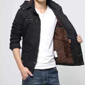 Áo khoác lót lông nam kakiKiểu áo khoác các chàng không thể thiếu được trong mùa đông giá rét
