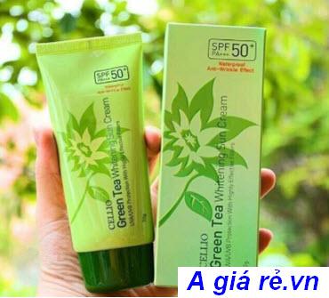 Kem chống nắng vật lý Cellio Green Tea