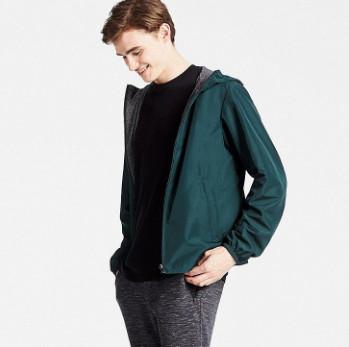 Áo khoác nam Uniqlo màu xanh rêu