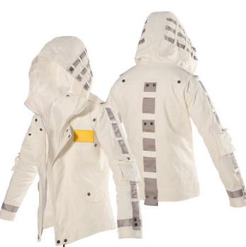 Áo hoodie nam Pubg màu trắng