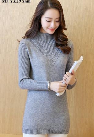 Áo len nữ dáng dài