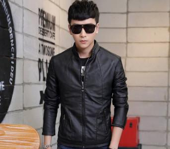 Áo khoác da nam màu đen