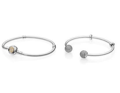 Vòng tay bạc Pandora đơn giản