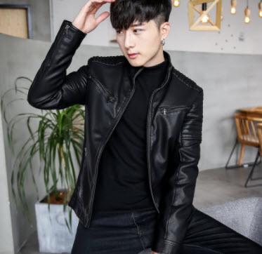Áo khoác da màu đen