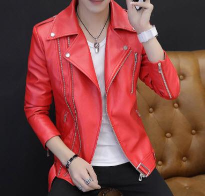 Áo khoác da màu đỏ