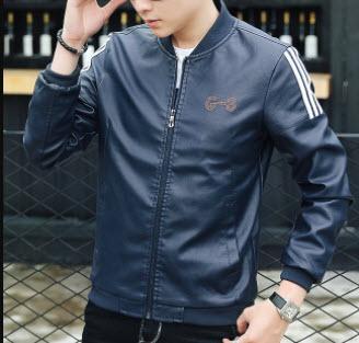 Áo khoác da màu xanh