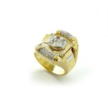 Nhẫn vàng nam đính đá