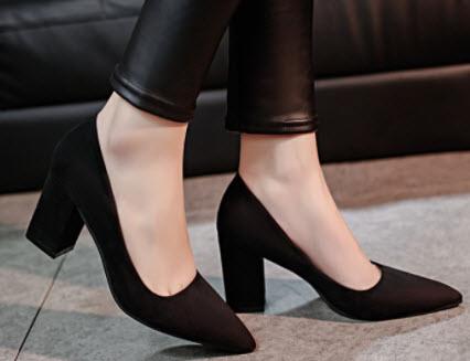 Giày búp bê cao gót hàn quốc