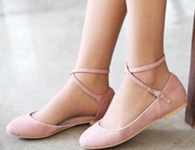 Giày búp bê có quai ở cổ chân