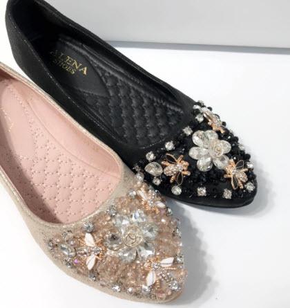 Giày búp bê đính đá