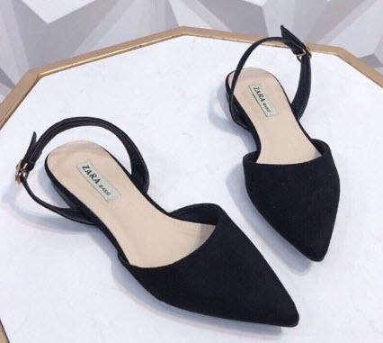 Giày búp bê hở gót