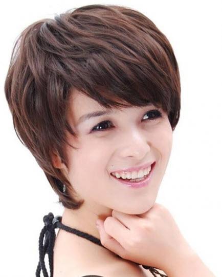 tóc tém uốn xoăn nhẹ