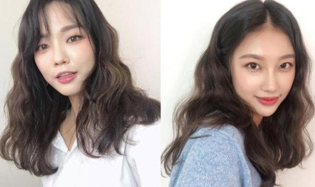 Tóc ngắn Hàn Quốc xoăn nhẹ