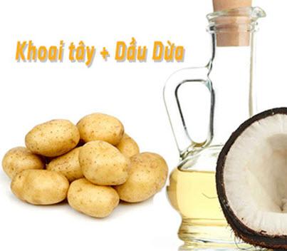 Khoai tây kết hợp dầu dừa