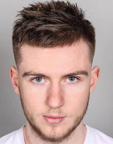 Kiểu tóc undercut ngắn cho nam trán cao