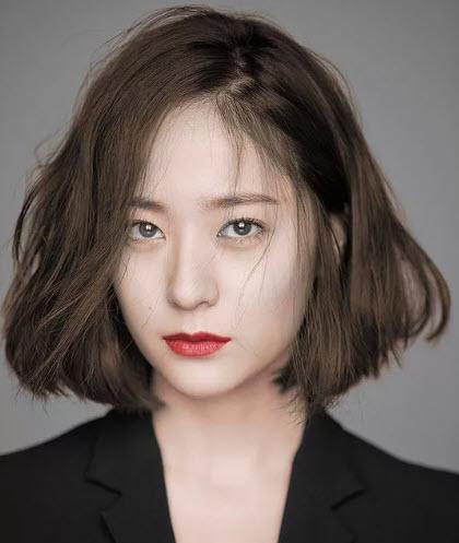 Mẫu tóc ngang vai Hàn Quốc