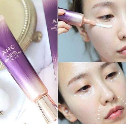 Cách sử dụng kem mắt AHC