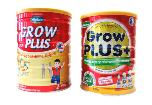 Sữa Grow Plus va Vinamilk và Nutrifood