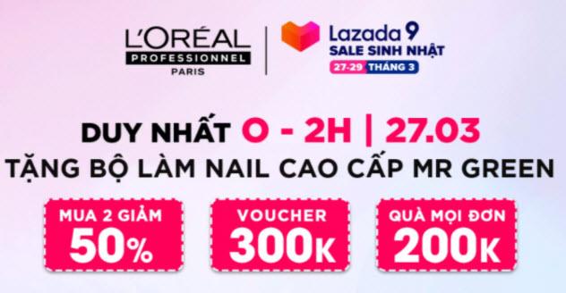 Sale thương hiệu LOreal
