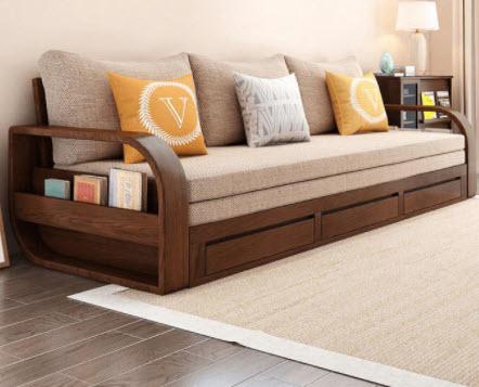 Ghế giường gỗ sofa