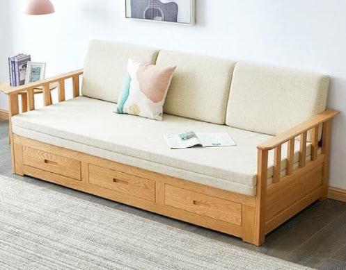 Sofa giường nằm gỗ