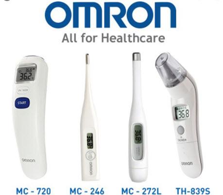 cách sử dụng nhiệt kế điện tử omron