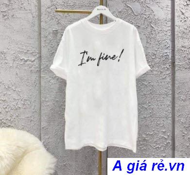 Áo phông trắng nữ