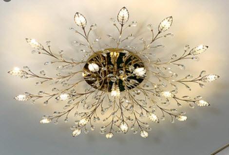 đèn chùm led phòng khách