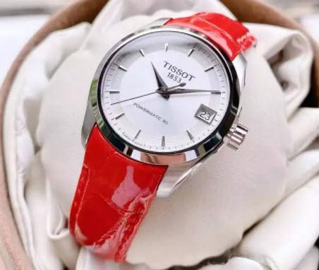 Đồng hồ Tissot dây da đỏ